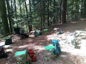 Waldbaden Ausbildung mitten in der Natur.